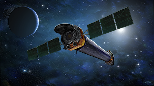 Illustration of Chandra spacecraft